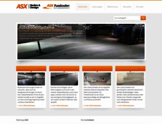 asxfussboden.de screenshot