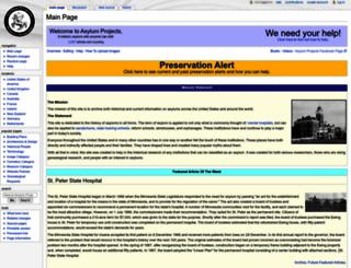 asylumprojects.org screenshot
