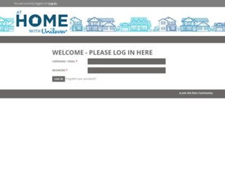 at-home-with-unilever.com screenshot