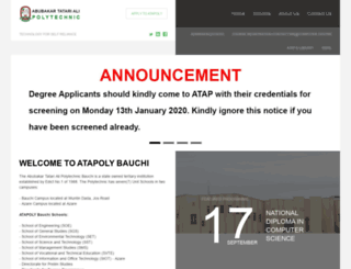 atapoly-bauchi.edu.ng screenshot