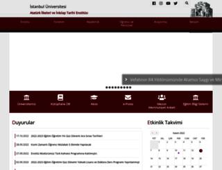 ataturkilkeleri.istanbul.edu.tr screenshot