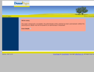 ataxia.donorpages.com screenshot