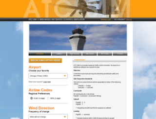 atc-sim.com screenshot