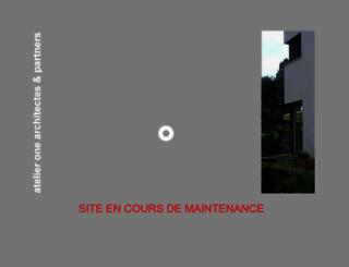 atelierone.ch screenshot