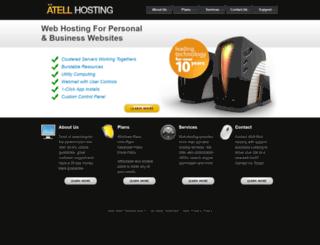 atellhosting.com screenshot