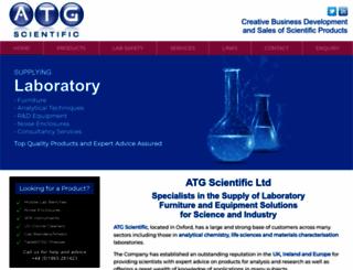 atgscientific.co.uk screenshot