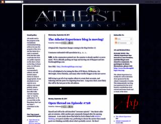 atheistexperience.blogspot.com screenshot