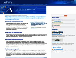 athenaarchiver.com screenshot