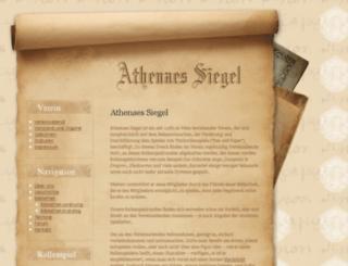 athenaes-siegel.bplaced.net screenshot