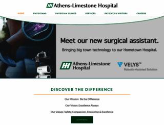 athenslimestonehospital.com screenshot