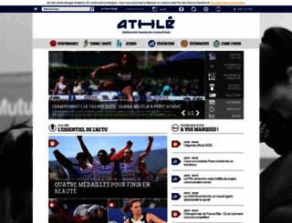 athle.org screenshot
