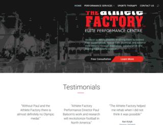 athletefactory.net screenshot