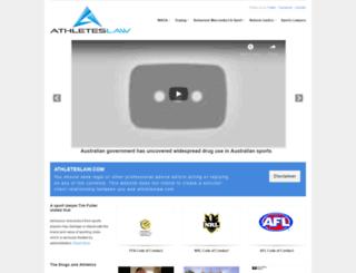 athleteslaw.com screenshot