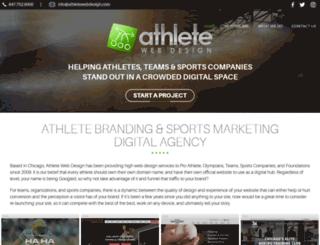 athletewebdesign.com screenshot