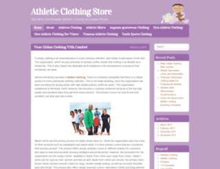 athleticclothingblog.wordpress.com screenshot