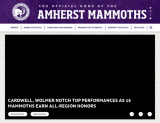 athletics.amherst.edu screenshot