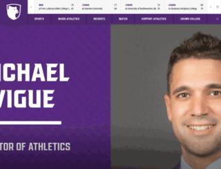 athletics.crown.edu screenshot