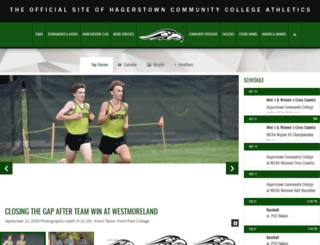 athletics.hagerstowncc.edu screenshot