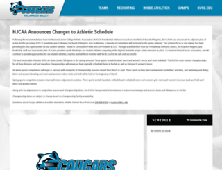 athletics.kvcc.edu screenshot