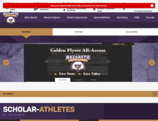 athletics.naz.edu screenshot