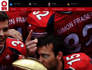 athletics.sfu.ca screenshot