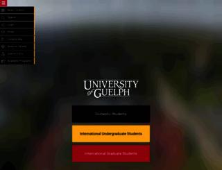 athletics.uoguelph.ca screenshot