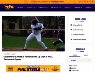 athletics.uwsp.edu screenshot