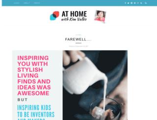 athome.kimvallee.com screenshot