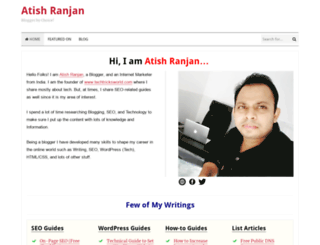 atishranjan.com screenshot