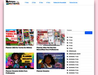 atividadesparaprofessores.com.br screenshot