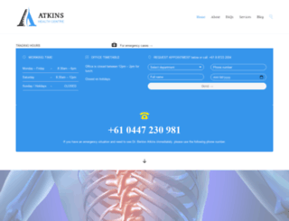 atkinshealthcenter.com.au screenshot