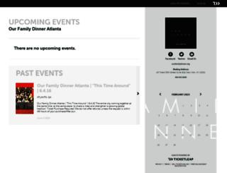 atl-ourfamilydinner.ticketleap.com screenshot