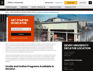 atl.devry.edu screenshot
