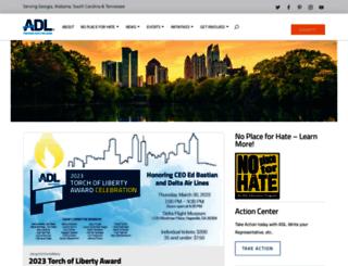 atlanta.adl.org screenshot