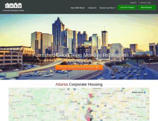 atlanta.corporatehousingbyowner.com screenshot