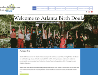 atlantabirthdoula.com screenshot