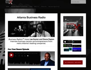 atlantabusinessradio.businessradiox.com screenshot