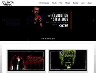 atlantaopera.org screenshot