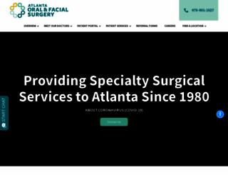 atlantaoralsurgery.com screenshot