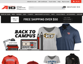 atlantic10.teamfanshop.com screenshot