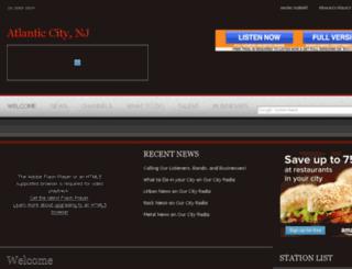 atlanticcity.ourcityradio.com screenshot