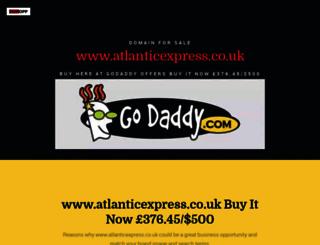 atlanticexpress.co.uk screenshot