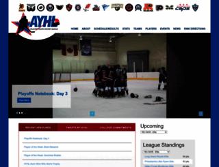 atlantichockey.org screenshot