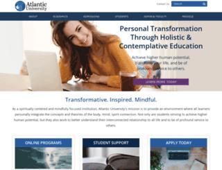 atlanticuniv.edu screenshot