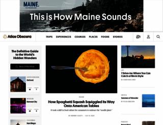 atlasobscura.com screenshot