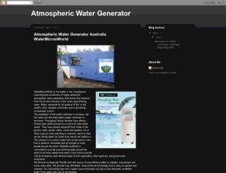 atmospheric-watergenerator.blogspot.com screenshot
