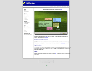 atnotes.free.fr screenshot