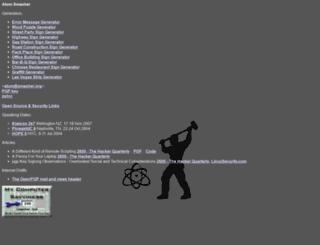 atom.smasher.org screenshot