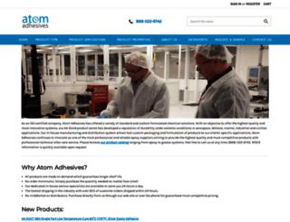 atomadhesives.com screenshot