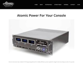 atomicinstrument.com screenshot